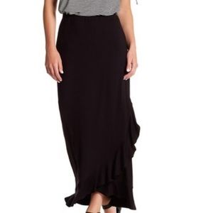 Max Studio ruffle hem hi/low wrap skirt